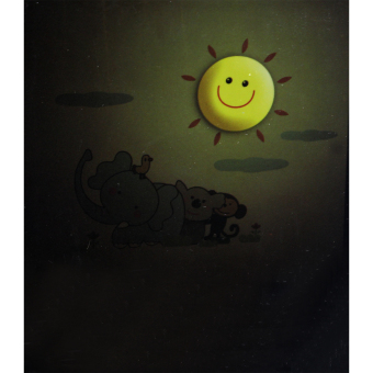 Wallmark My Little Zoo LED Wall Light with Wall Sticker (Yellow) - picture 2