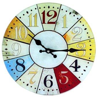 Wallmark Roulette Tempered Glass Creative Wall Clock