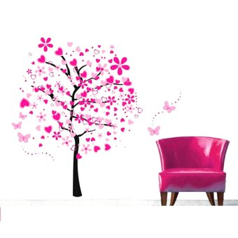 Wallmark Two-piece Pink Romantic Tree Wall Sticker Price Philippines
