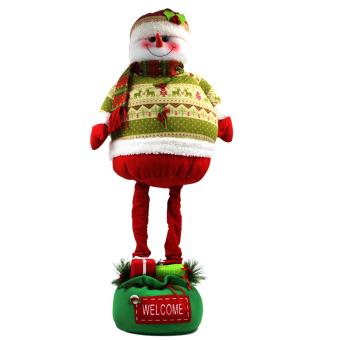 "Wallmark ""Welcome Snowman"" Extendable Legs Christmas Figure"