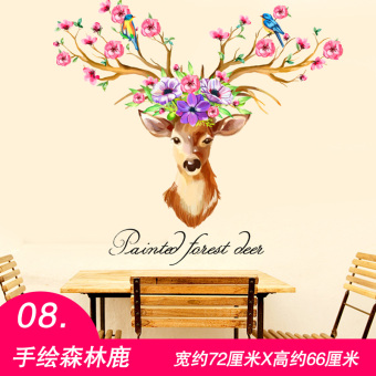 Warm sticky adhesive paper bedroom room wall sticker