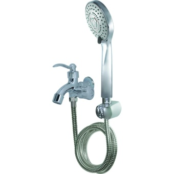 Wassernison Hybrid Dual Shower Set with 5-setting Handheld Showerand Dual Faucet