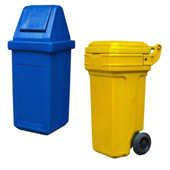 Waste Master Large (Blue) and Roller King Small (Yellow)
