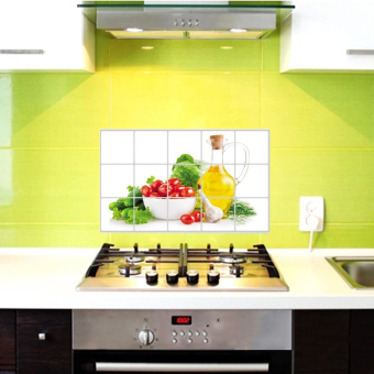 Waterproof Anti-oil Stain lecythus Kitchen decoration Wall Sticker Tile Decal - 5