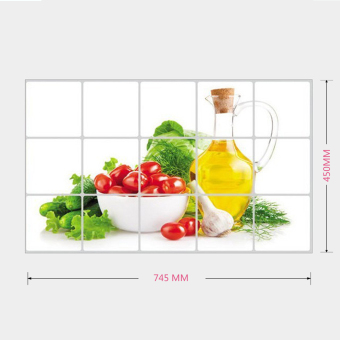 Waterproof Anti-oil Stain lecythus Kitchen decoration Wall Sticker Tile Decal - 4