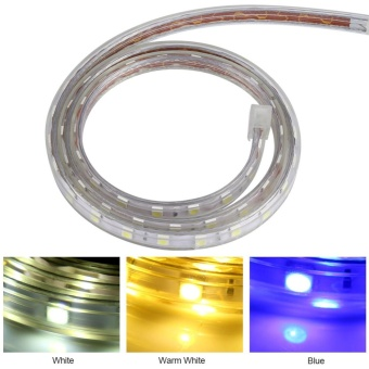 Waterproof SMD 5050 LED Strip 220V 60leds/m Flexible Tape Rope Light 5 Meters (Blue) - intl - 3