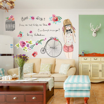 Waterproof wallpaper self-adhesive dormitory wall sticker