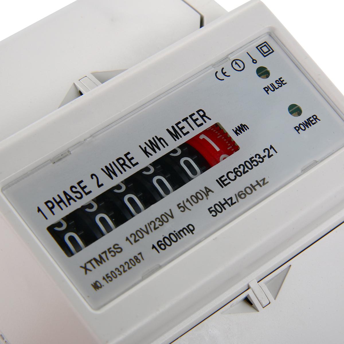 Philippines | Watt Hour KWH Meter Digital Single Phase 2 Wire 230V 5 ...