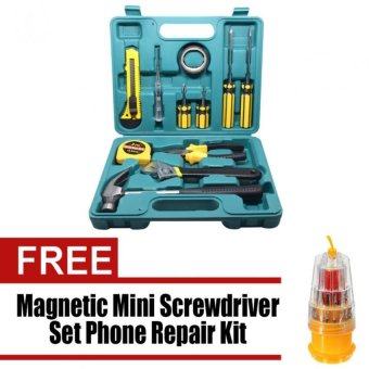 Wawawei 12 Pieces Home Package Repair And Maintenance Tool Set withfree Wawawei HS-6036A/JK-6036C 31 in 1 Precision Magnetic MiniScrewdriver Set Phone Repair Kit Torx Tools Sets