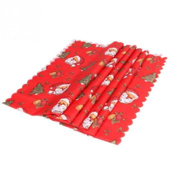 weisizhong Christmas Tablecloths Table Covers Decoration Dining Table Linens Decor Party Christmas Ornament,#04 - 2