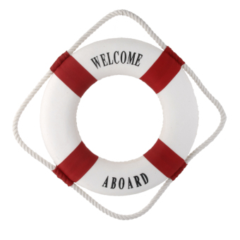 Welcome Red Nautical Wall Decor Ship Boat Ring Life Buoy Preserver 35cm - 4