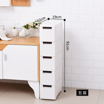 Wide drawer-style kitchen storage cabinets bathroom storage rack