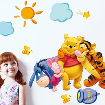 Winnie the Pooh Nursery Room Wall Decal Decor Stickers For KidsBaby - intl - 2