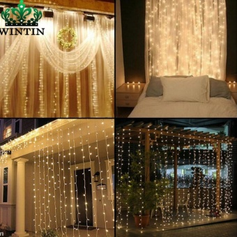 Wintin 4.5M x 3M 300 LED Icicle String Lights Christmas xmas Fairy Lights Outdoor Home For Wedding/Party/Curtain/Garden Decoration - intl