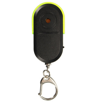 Wireless Anti-Lost Alarm Key Finder Locator Keychain Whistle SoundLED Light Green - intl