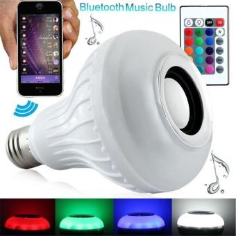 Wireless Bluetooth Remote Control Mini Smart Audio Speaker RGB (White)