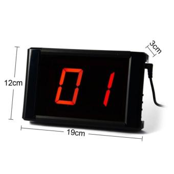 Wireless Paging System Waiter Calling System Restaurant Pager Service Hospital KTV 1 Panel With 10 Pcs Call Button - 2