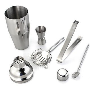 WiseBuy 5pcs/Set Cocktail Shaker Stainless Steel Bartender ToolsKit Mixer Drink Bar