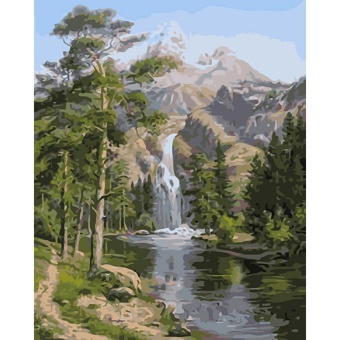 With Frame Mountain Waterfall Landscape DIY Painting By NumbersHand Painted Oil Painting For Home Wall Art Picture 40x50cm Arts -intl Price Philippines