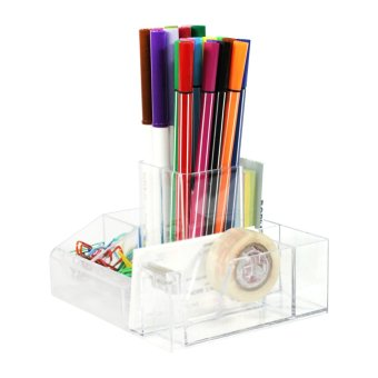 WORK360 Acrylic099 Crystal Clear Desk Organizer (Clear) - 4