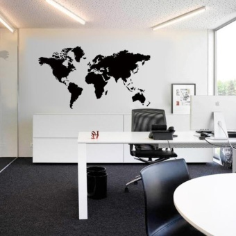 Sell world map removable vinyl wall sticker wallpaper home office world map removable vinyl wall sticker wallpaper home office artdecal intl gumiabroncs Image collections