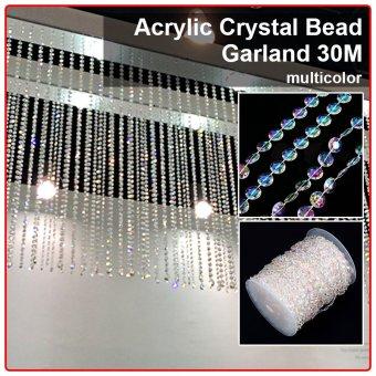 XCSOURCE Acrylic Crystal Bead Garland Wedding Tree Decor 30M WV036