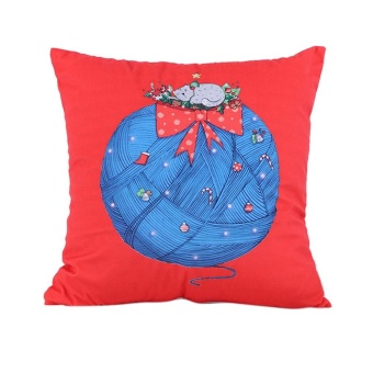 Xmas Christmas Printing Dyeing Sofa Bed Home Decor Pillow Cover Cushion Cover - intl - picture 2