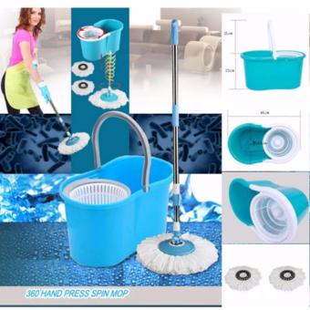 XZY New 360? Microfiber Magic Rotating Spin Head Easy CleaningFloor Mop Bucket Set (Color May Vary) - 4