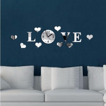 Yidabo Kids Bedroom Nursery Ceiling Fun Glow Mirror Effect Wall Sticker with Clock - intl - 2