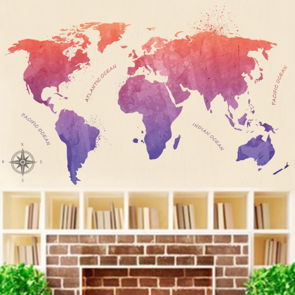 Philippines yika chinese style world map art room wall sticker yika chinese style world map art room wall sticker decal mural homedecor intl gumiabroncs Image collections