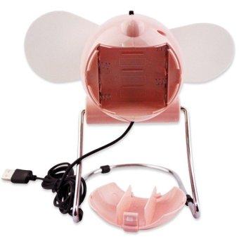 YK-688 USB Mini Fan (Light Pink) - 3