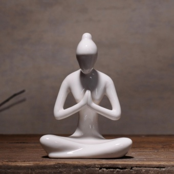 Yoga Girl Ceramic Sculpture Home Decor Creative Modern ArtFigurines - intl - 4