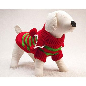 yoggus Dog Christmas Costume Pet Puppy Cat Sweater Coat Clothes (L) - intl - picture 2