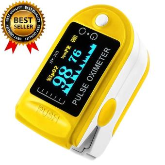 yugos Finger Pulse Oximeter Finger Oxygen Meter With Pulse Rate Monitor, Yellow