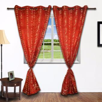 ZCurtains Bridgette Red Single Panel Curtain - 4