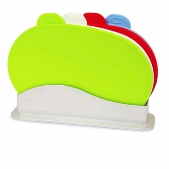 Zover Color Coded Hygienic Chopping Board Hardwearing HygienicPolyproylene with Holder Dishwasher Safe