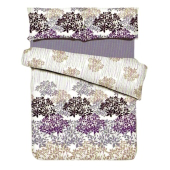 Zover Printed Cotton Beddings Set Queen-Size Loveliness Bedsheet(1pc Fitted Sheet+2pc Pillowcase+1pc Flat Sheet) 4-piece Set(BEDSHEET4PC-L_Queen)