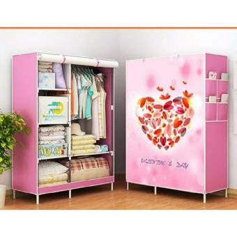 Zover RB-8802 DIY Panoramic Pattern 3D Wardrobe Closet ClothesOrganizer (Valentine's Day)