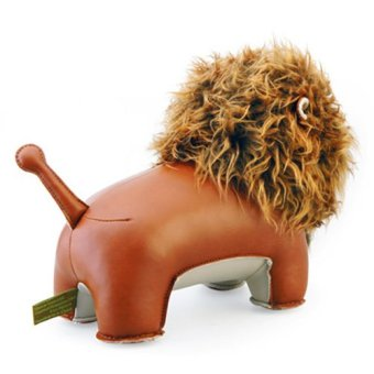 Zuny Series Lion Lino Bookend (Brown) - 4