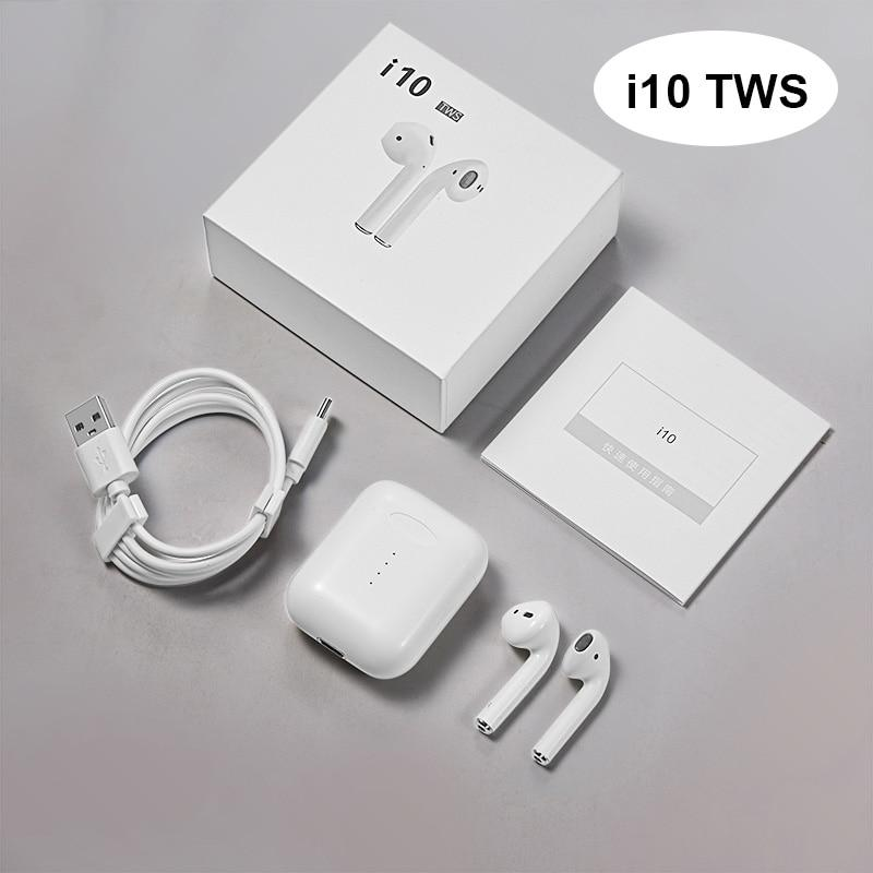 i10 TWS Bluetooth Earphone 3D Bass Wireless Headphones 5 0 Type-C Wireless  Charging Support Bluetooth Headset Earbuds Touch Control For iPhone Samsung