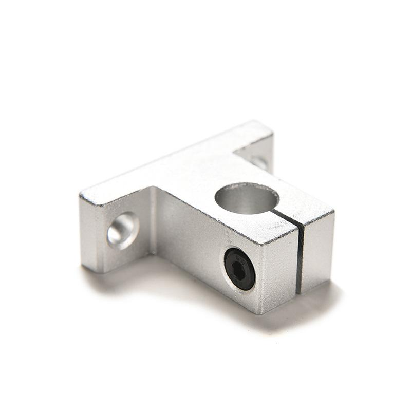 2PCS SK10 10mm Bearing CNC Aluminum Linear Rail Shaft Guide Support BE