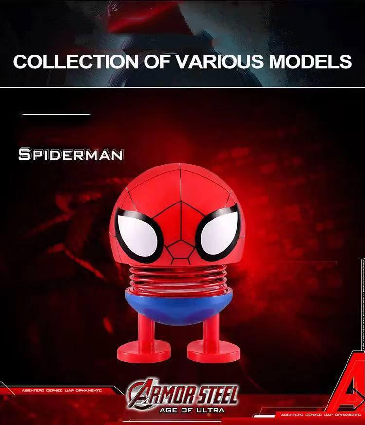 (Ready Stocks)Avengers League of Legends Dashboard Toy Car Ornaments Emoji  Shaker Shaking Head Doll Auto Decors Interior Accessories