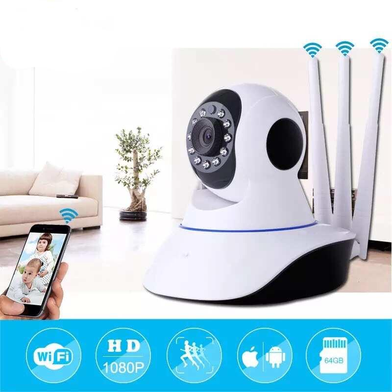 V380 TRIPLE ANTENNA 1080P P2P Night Vision IP Camera Wireless security with  Motion Automatic Tracking Baby Monitor ip cam