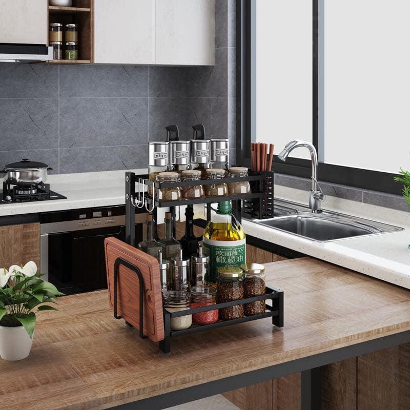 2 Tier Staineless Steel Kitchen Rack Condiment Organizer Rack Lazada Ph