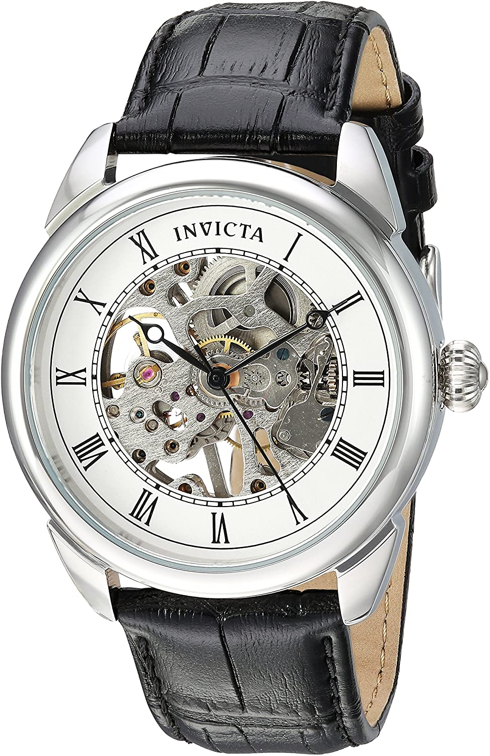 Invicta Men's Specialty 42mm Stainless Steel and Leather Mechanical Watch,  Black (Model: 23533) | Lazada PH