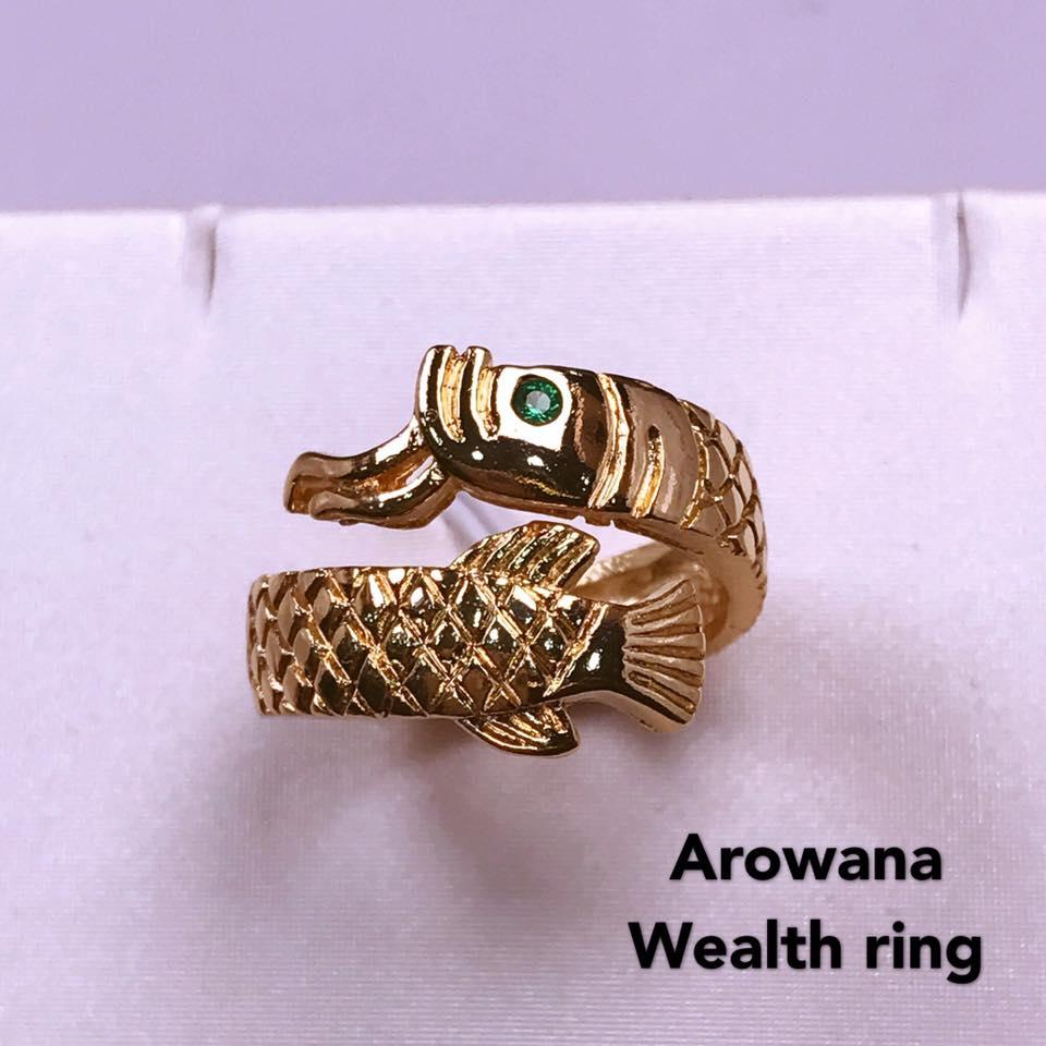 Arowana fish wealth ring--Attract wealth , business , protection, harmony  and good fortune for your everyday life