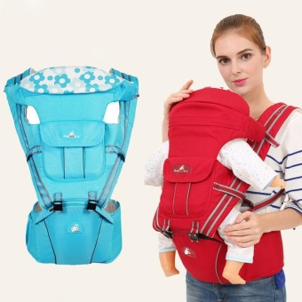 0-36 month Baby Carrier Hip Seat Baby Hipseat Front Backpacks Canguru Portabebe Multifunction Light blue - intl