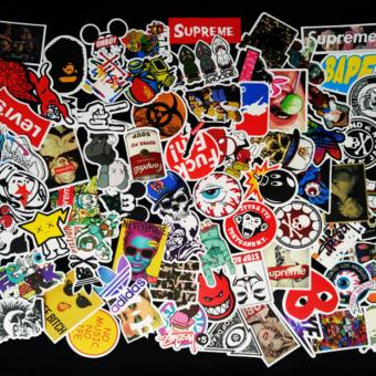 100 Pcs Sticker Bomb Decal Vinyl Roll for Car Skate SkateboardLaptop Luggage - intl