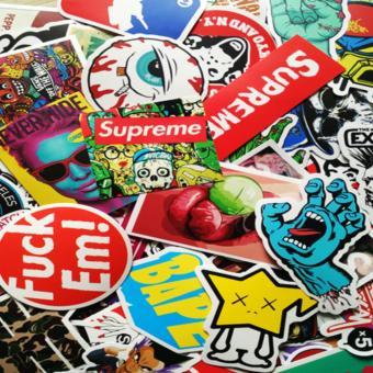 100 Pcs Sticker Bomb Decal Vinyl Roll for Car Skate SkateboardLaptop Luggage - intl - 2