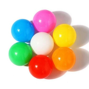 10pcs 8cm Colorful Soft Plastic Toy Balls Play Pit Balls Water PoolOcean Wave Balls My90 - intl
